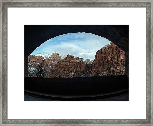 Window To Zion Framed Print