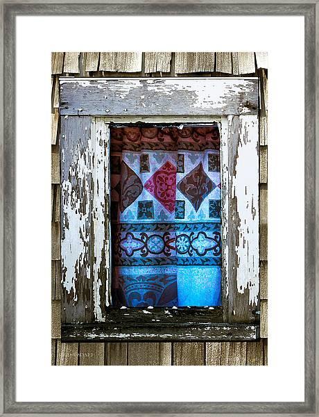 Window Toward The Sea Framed Print