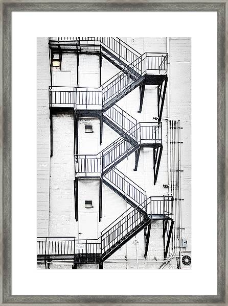 Windows And Stairs II Framed Print