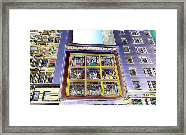 Windows On Exibitions Framed Print