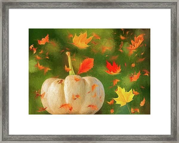 Winds Of Autumn Framed Print