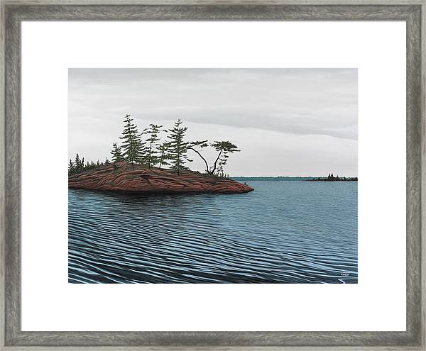 Windswept Island Georgian Bay Framed Print