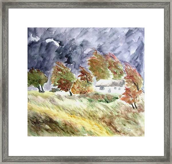 Windswept Landscape Framed Print