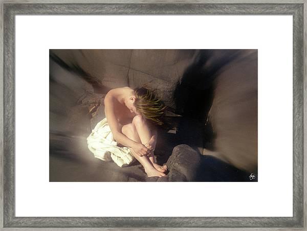 Windswept Nude Framed Print