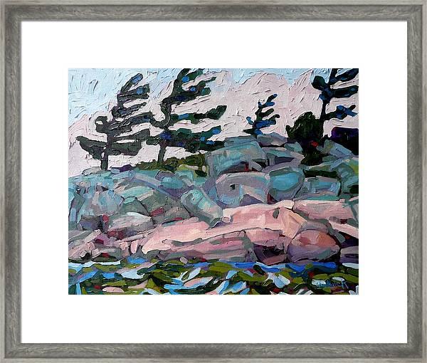 Windy Island Framed Print