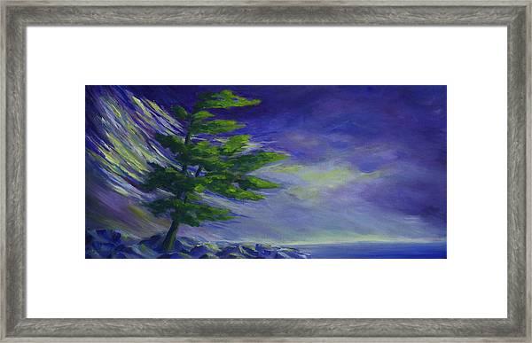 Windy Lake Superior Framed Print