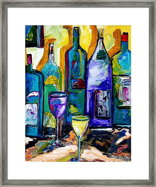 Wine And Spirit Framed Print