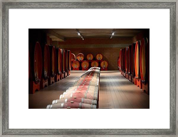 Wine Cellar In Montalcino Framed Print