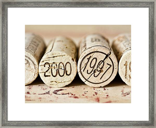 Wine Corks Framed Print by Frank Tschakert