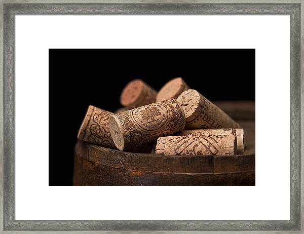 Wine Corks Framed Print