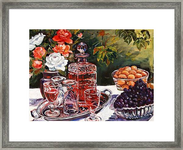Wine Decanter Still Life Framed Print