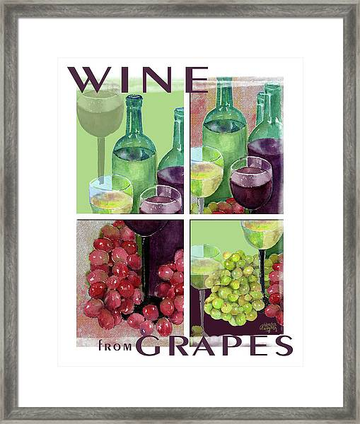 Wine From Grapes Collage Framed Print