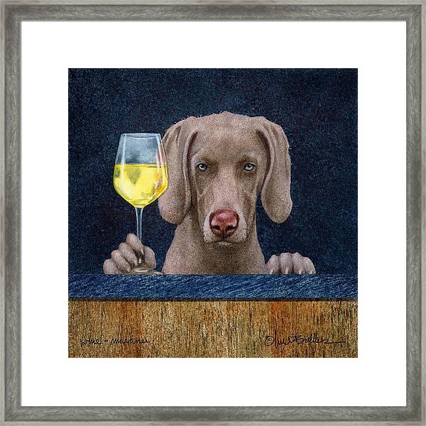 Wine-maraner Framed Print