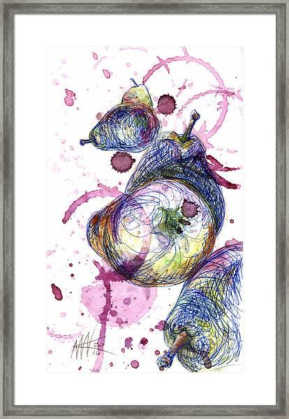 Wine Pearing Framed Print