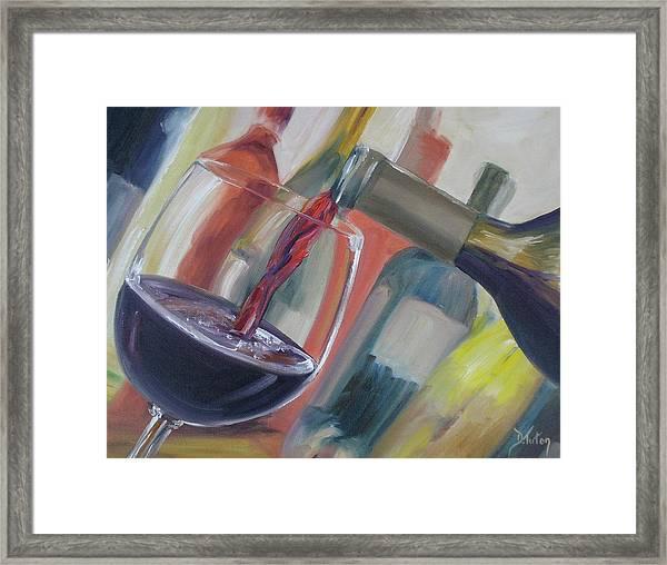 Wine Pour Framed Print