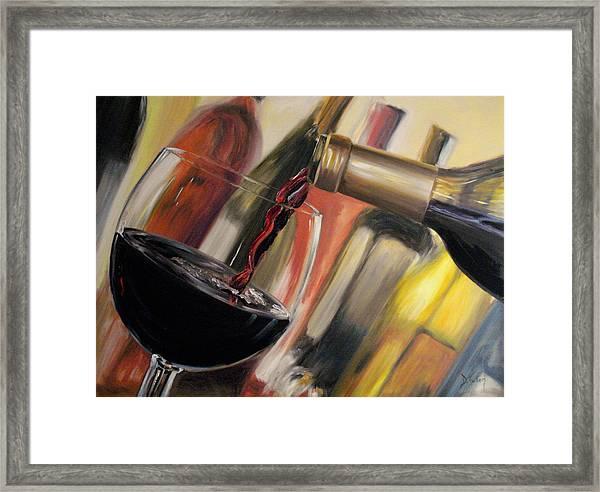 Wine Pour II Framed Print