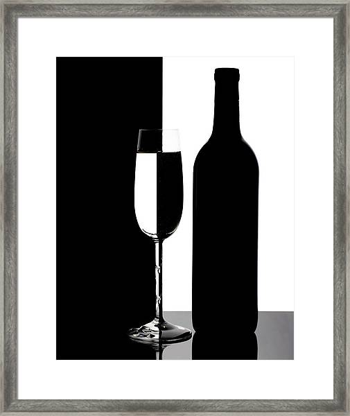 Wine Silhouette Framed Print