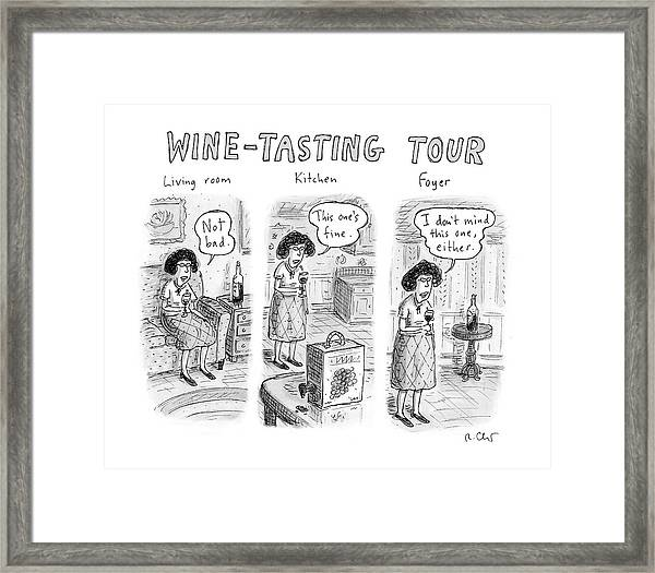 Wine-tasting Tour Framed Print
