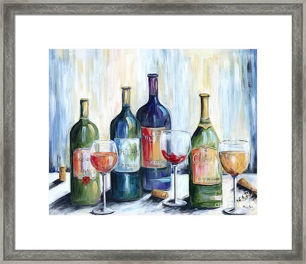 Wine Time Framed Print