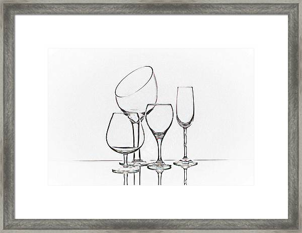 Wineglass Graphic Framed Print