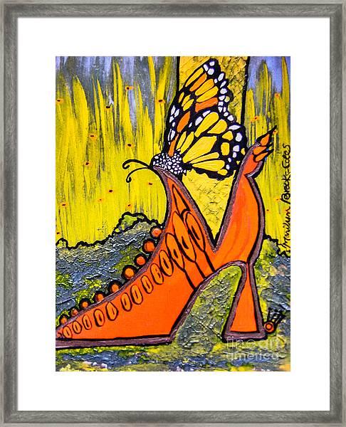 Wing Walking Framed Print