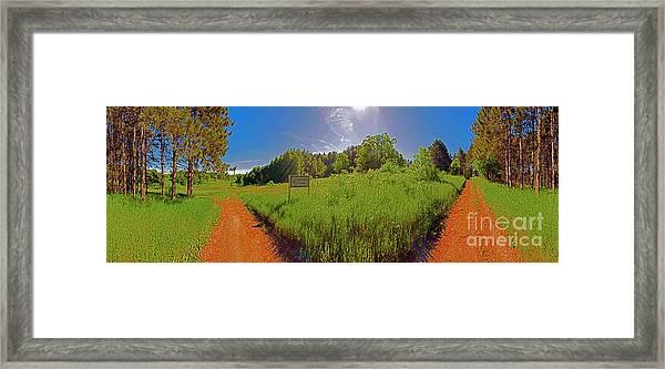 Wingate, Prairie, Pines Trail Framed Print