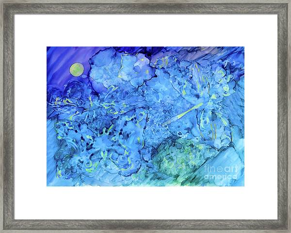 Winged Chaos Under The Moon Framed Print