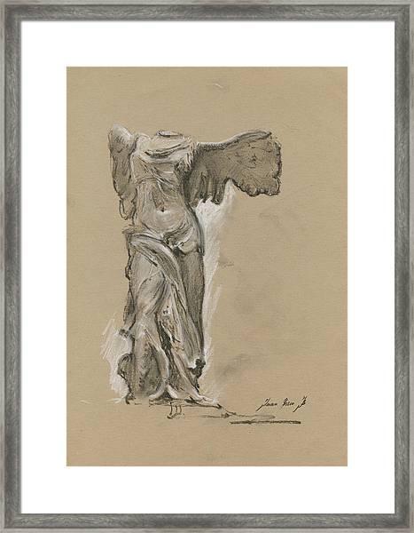 Winged Vicory Of Samothrace Framed Print