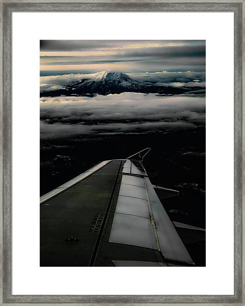 Wings Over Rainier Framed Print