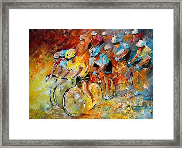 Winning The Tour De France Framed Print