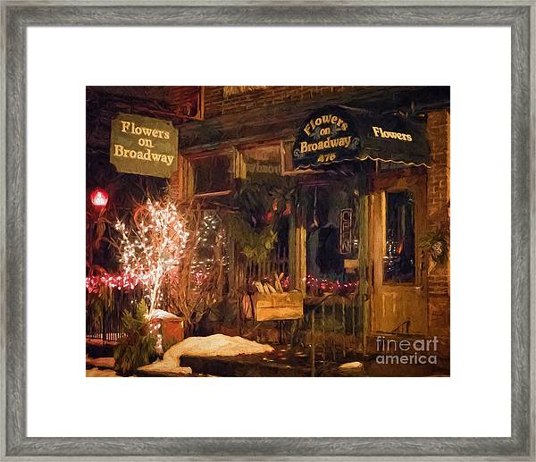 Framed Print featuring the photograph Winona Mn Storefront Historic Flower Shop by Kari Yearous