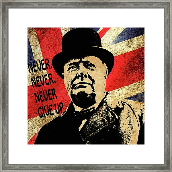 Winston Churchill 2 Framed Print