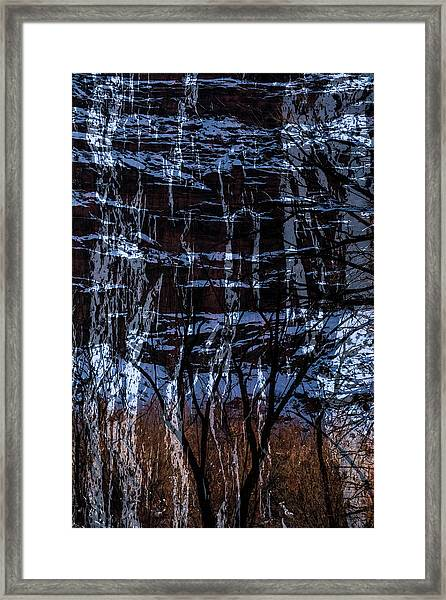 Winter Abstract Framed Print