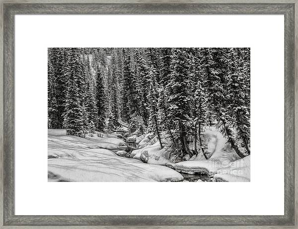 Winter Alpine Creek II Framed Print