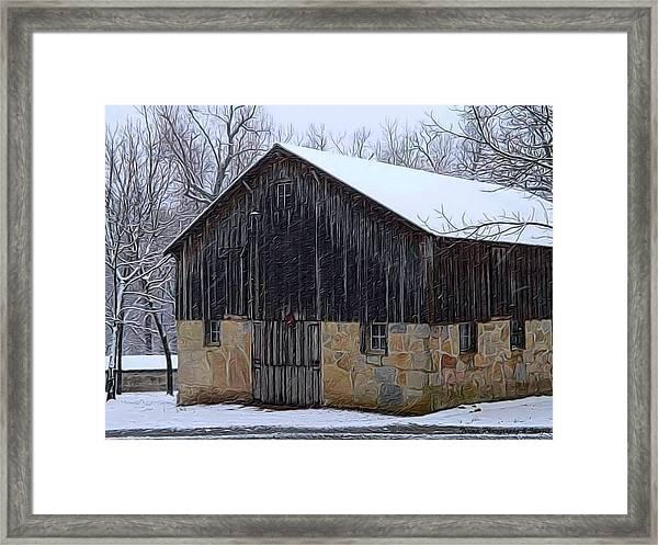 Winter Arrival Framed Print