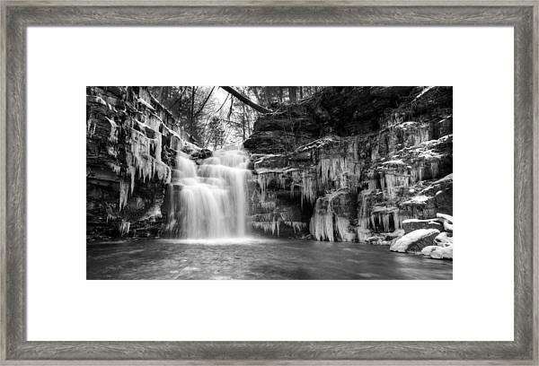 Winter At Big Falls  Framed Print