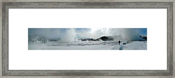 Winter At Grand Prismatic Framed Print