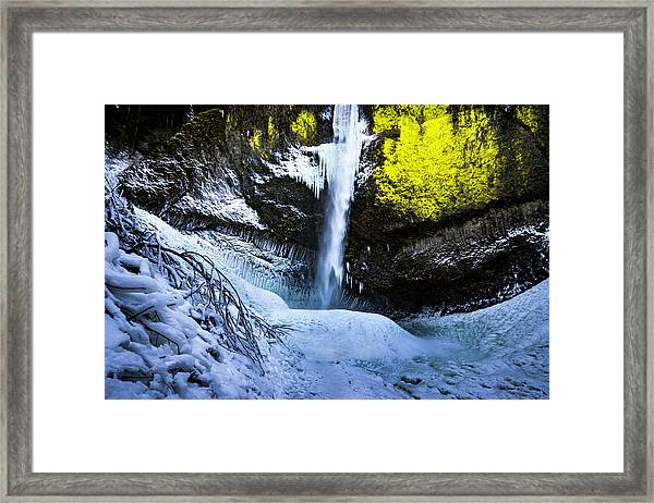 Winter At Latourell Falls Framed Print