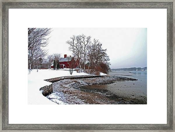 Winter At Perkins House  Framed Print
