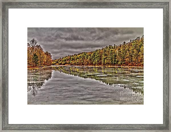 Winter At Pine Lake Framed Print
