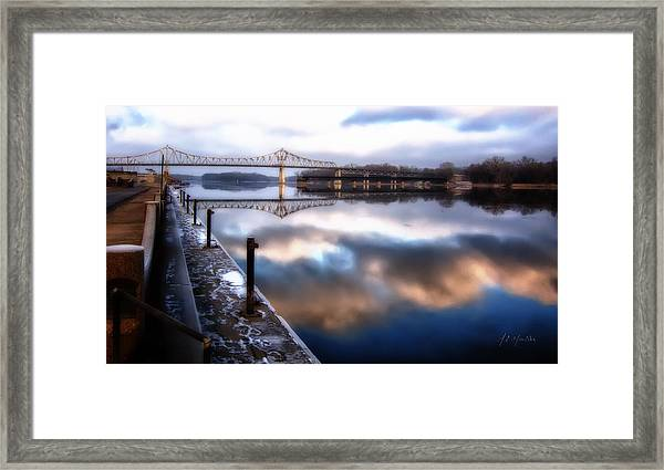 Winter At The Levee Framed Print