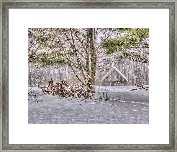 Winter At The Woods Framed Print