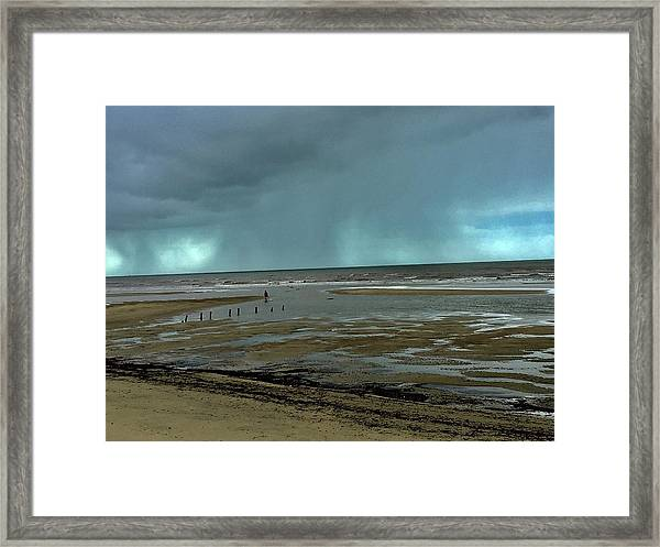 Framed Print featuring the photograph Winter Beach by Debbie Cundy