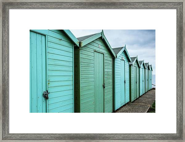 Winter Beach Huts IIi Framed Print