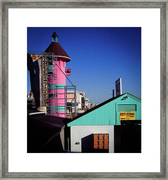 Framed Print featuring the photograph Winter Day - Old Orchard Beach, Maine by Samuel M Purvis III