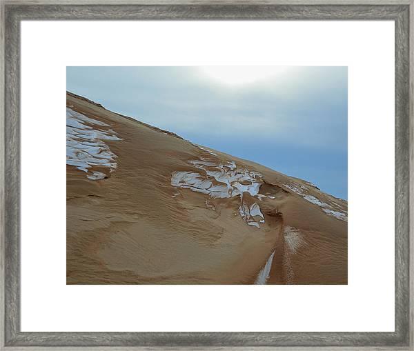 Winter Dune Framed Print