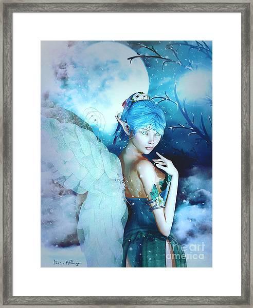 Winter Fairy In The Mist Framed Print