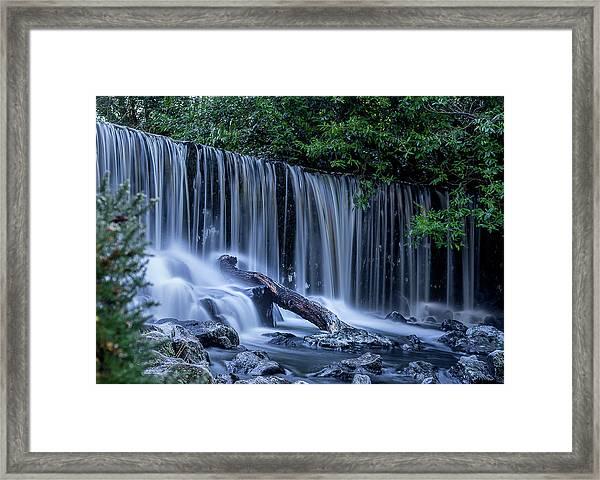 Winter Fall At Crumlin Glen Framed Print