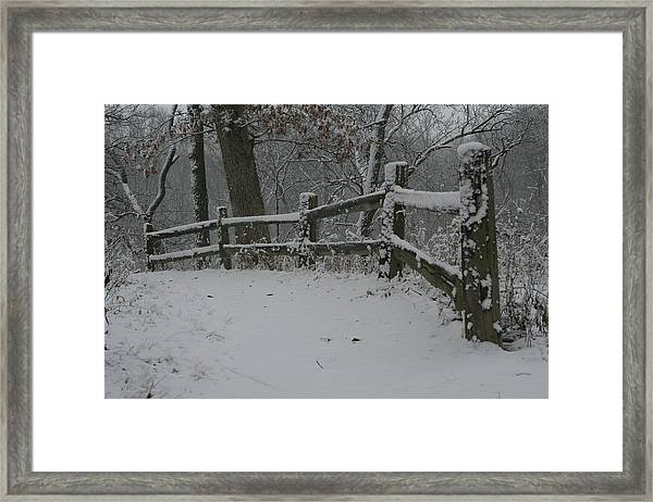 Winter Fence Trail H Framed Print