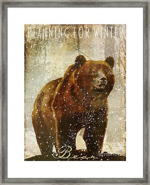 Winter Game Bear Framed Print